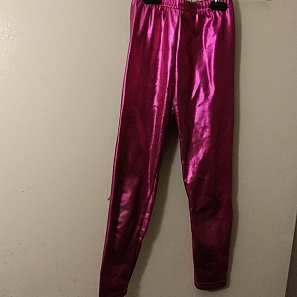 Other - Girl's Shiny Stretch Leggings Size: Small